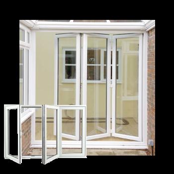 sliding white upvc doors
