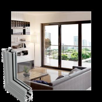 living room with bi-folds