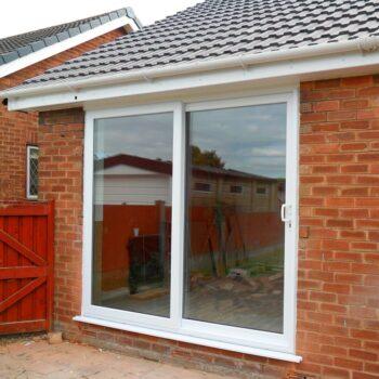 PVC sliding patio door